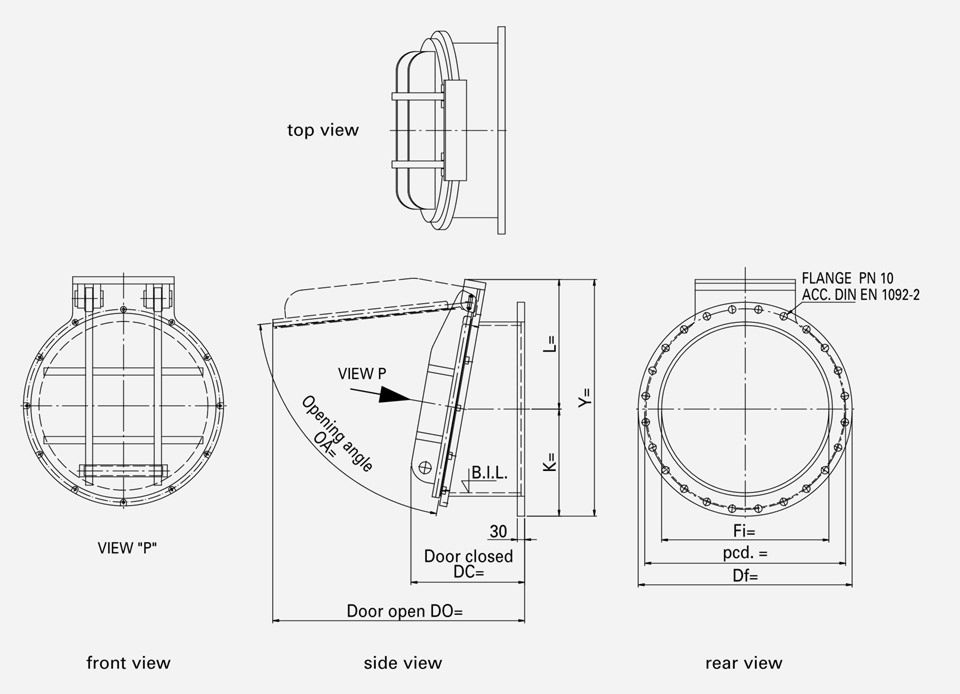 hdpe-flap-valve-drawing